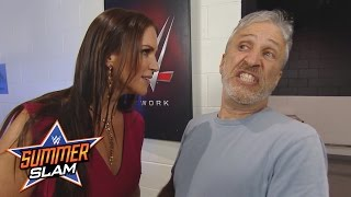 Jon Stewart encounters Stephanie McMahon backstage: SummerSlam 2016, only on WWE Network