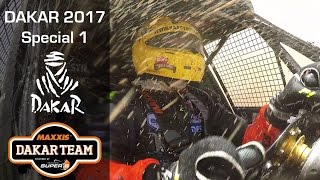 Dakar podium stage splashing Coronel first stage of the Dakar 2017 rally