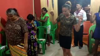 Pregação com o pastor Odair José Leal.