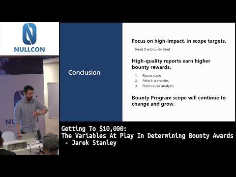 Getting to $10,000 – the variables at play in determining bounty awards by Jarek Stanley