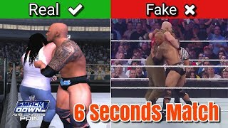 The Rock 6 Seconds Match In WWE SmackDown! Here Comes The Pain (2003)
