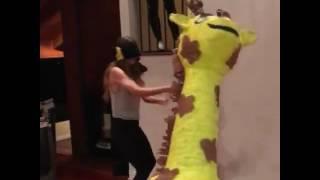 Lelepons so violently hitting the piñata - Hannah Stocking lol
