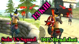 Solo VS Squad 90% Head Shot Tricks tamil/Ranked match Booyah tips and tricks tamil