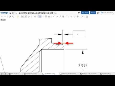 What's New in Onshape (February 13th, 2017) Drawing Dimension Highlighting