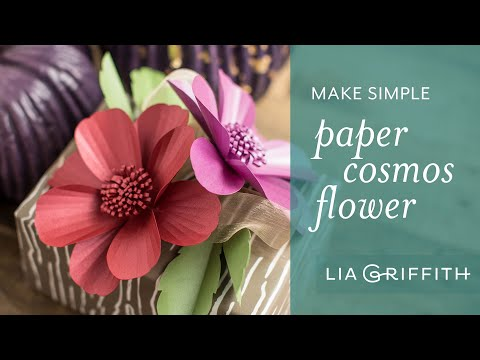 How To Make Paper Cosmos using Frosted Paper - Fall Flower Bouquet Series