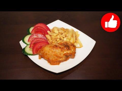 Вкусное куриное филе в сметанно-горчичном соусе в мультиварке