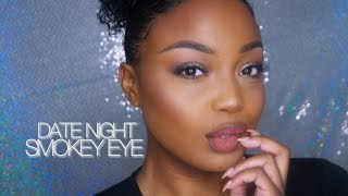 DATE NIGHT SMOKEY EYE TUTORIAL | Soft Glam Feat  Too Faced Sweet Peach Palette