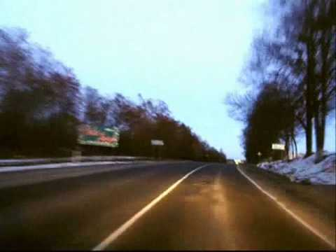 Timelapse driving from countryside to Lutsk