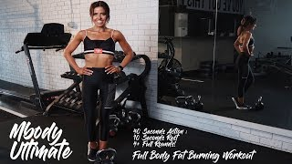 MBODY BABE IN 40  DAYS  - FULL BODY FAT BURNING 20 MIN HOME WORKOUT