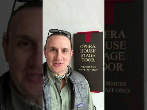 Kennedy Center Tosca: First Rehearsal on Stage Youtube Video