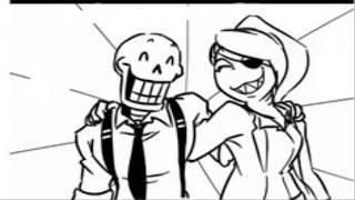 Mini comic Mafiatale [Undyne vs Papyrus]