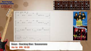 Venus - Shocking Blue / Bananarama Bass Backing Track with chords and lyrics
