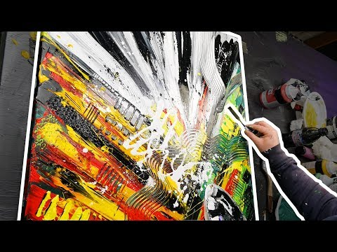 Speed Art – Abstract Painting demo with Acrylics | Chronaxie