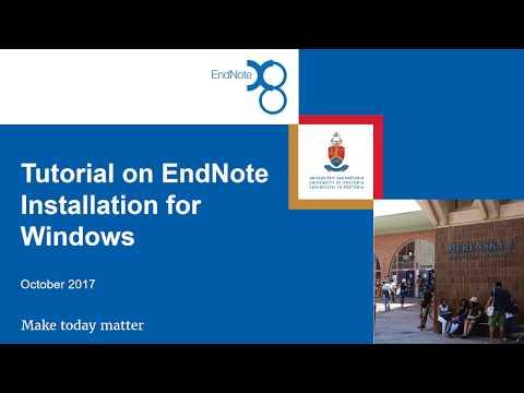 EndNote Installation