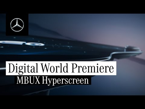 World premiere of the MBUX Hyperscreen