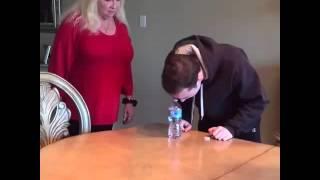 Water Bottle Shooting Prank on  Grandmom 😂😂