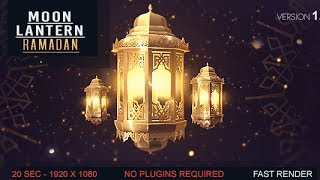 After Effects Template: Lantern Moon Ramadan Ident