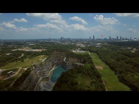 West Side Park och Vattenreservoar i Atlanta, USA