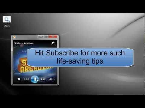 Alarm clock for Windows 7 PC in one minute