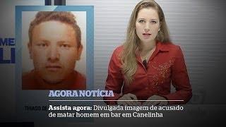 Divulgada imagem de acusado de matar homem em bar