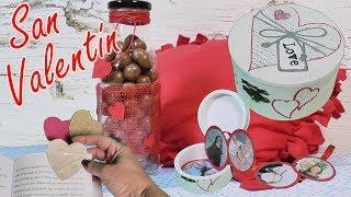3 Ideas para regalar en San Valentín. Regalos fáciles. Dia de la amistad
