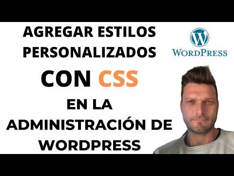 ✅ Estilos personalizados con CSS en la administración de WordPress
