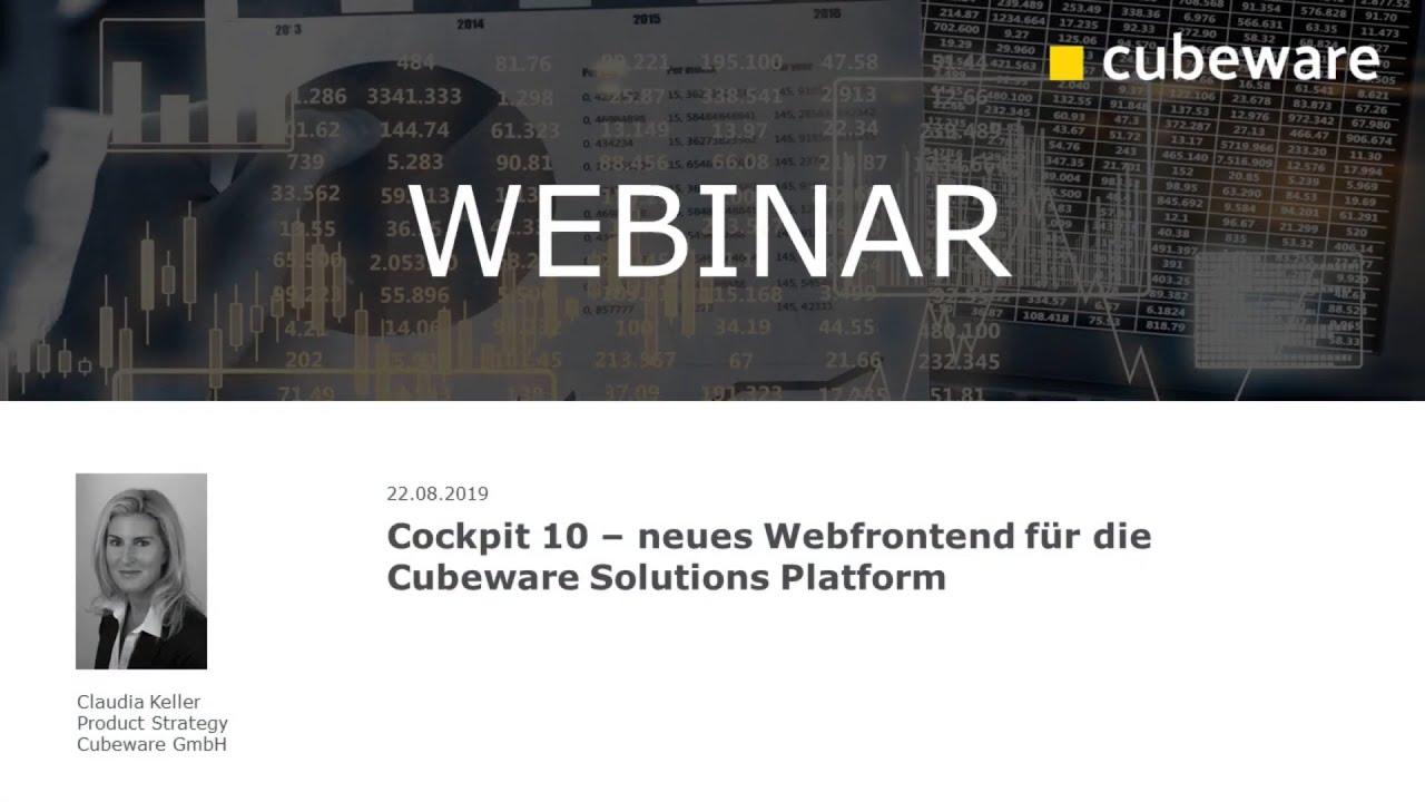 Cockpit 10 - neues Webfrontend für Cubeware Solutions Platform