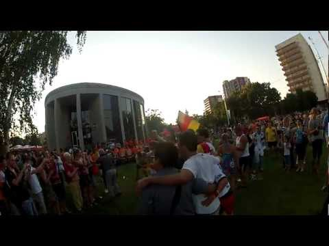 Before Netherlands-Germany game, Euro 2012, Kharkiv, Ukraine