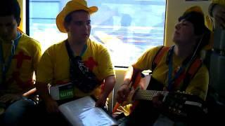 JMJ musica no comboio (louvado sejas)