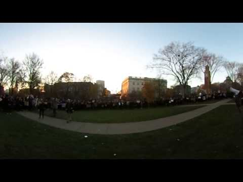 360 video: Brown University Walkout UHall 11/16/2016
