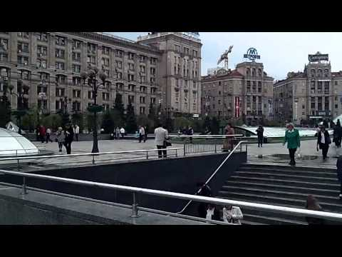Ukraine Kiev centre – Independence Square, Orange Revolution, Maidan Nezalezhnosti