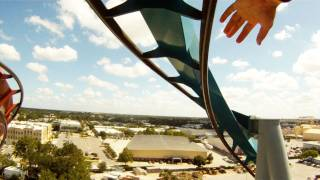Dragon Challenge ICE POV Universal's Islands Of Adventure Roller Coaster