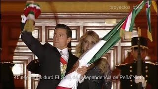 Peña Nieto hace el ridiculo en el Grito de Independencia