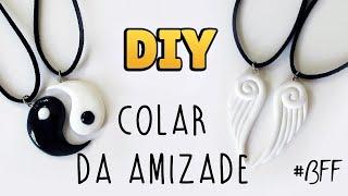 DIY: COLAR DA AMIZADE - Pingente Asas de Anjo & Yin Yang (Friendship Necklace Charms) #diyamizade