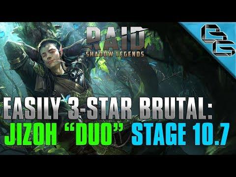 "RAID: Shadow Legends | EASILY 3-STAR BRUTAL!! | Jizoh ""Duo"" Stage 10.7 | F2P"
