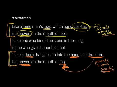 Proverbs 26:7–9 // How to Understand Proverbs