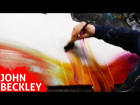Abstract Painting demonstration in Acrylics | Erisia
