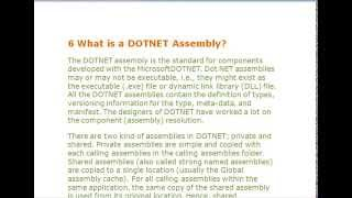 DOTNET Assembly what is use .net assembly