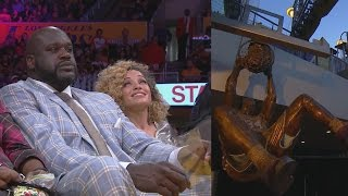 Lakers Honor Shaq With Statue! Lakers Erase 8 Pts Force OT!