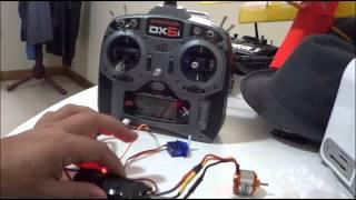 Bindando DX6I ao Receptor Orange 6 Canais 2.4ghz Dsm2 e configurando elevon