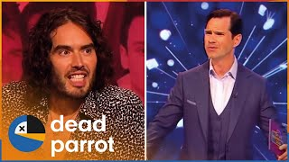 Jimmy Carr Can't Keep up with Disruptive Russell Brand & Noel Fielding   Big Fat Quiz   Dead Parrot