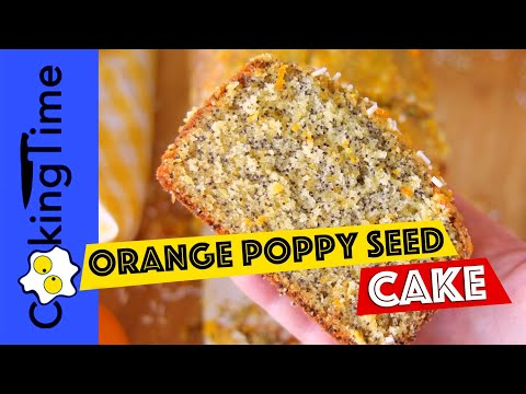 ORANGE POPPY SEED CAKE RECIPE | how to make | easy recipe