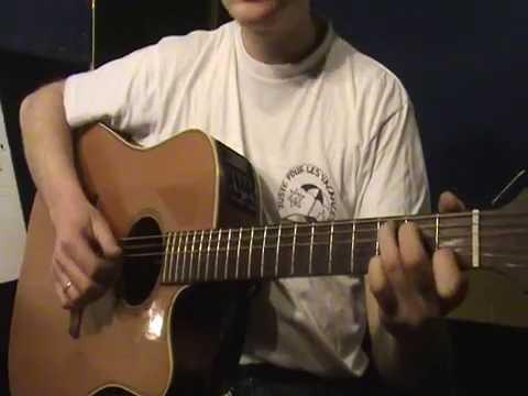 Comment jouer Aline de Christophe à la guitare (part 4)