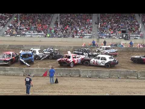Monroe county fair 2018 Demolition Derby Heat 2 (6pm show)