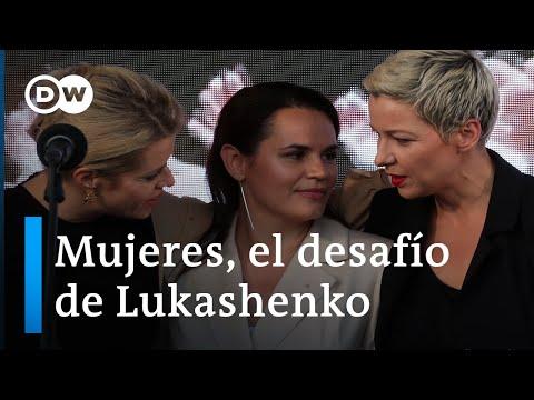 Tres mujeres retan a Lukashenko
