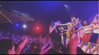 "Footage of Hillsong New York featuring ""naked cowboy"" 2"