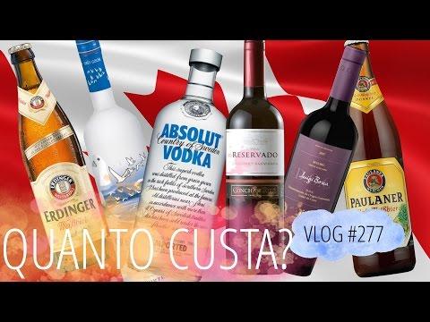 Quanto custa cerveja, vinho e outras bebidas no Canadá?| DAILY VLOG #277
