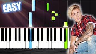 Luis Fonsi, Justin Bieber - Despacito - EASY Piano Tutorial by PlutaX