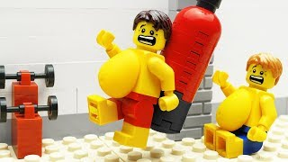 Lego Gym Food Fail - Body Building
