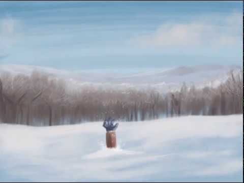 Winter Landscape Speed Painting on iPad Pro in Procreate App